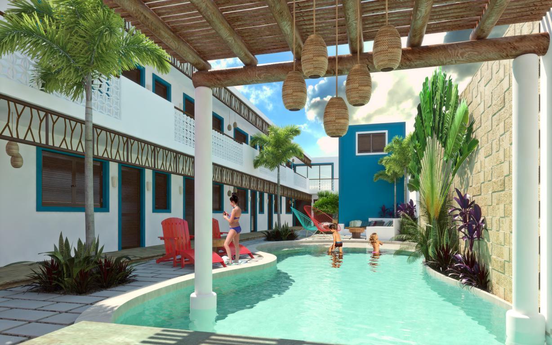 Remodelaci n y construcci n del hotel costa azul en for Coste construccion piscina